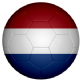 Netherlands Football Flag 25mm Pin Button Badge